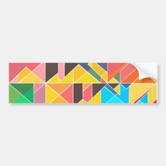 Triangular Abstract Design Bumper Sticker