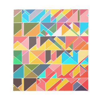 Triangular Abstract Design Notepads