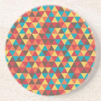 Triangular colorful coaster