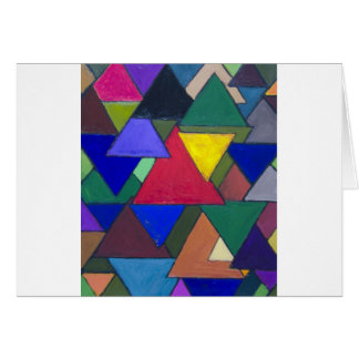 Triangular Colorful Invaders Greeting Card