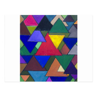 Triangular Colorful Invaders Postcard