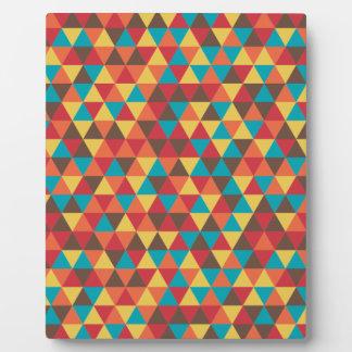 Triangular colorful plaque