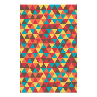 Triangular colorful stationery