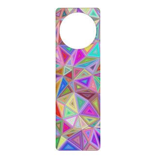 Triangular happiness door hanger