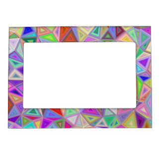 Triangular happiness frame magnets