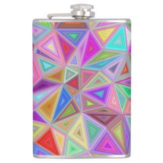 Triangular happiness hip flask