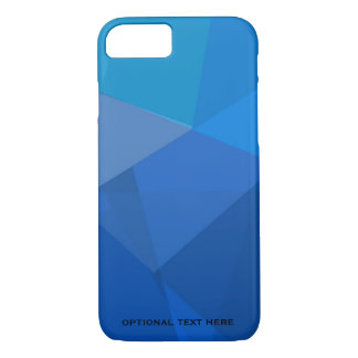 Triangular in shades of blue iPhone 8/7 case