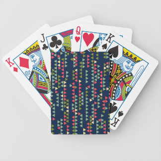 Triangular pattern bicycle playing cards