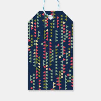 Triangular pattern gift tags