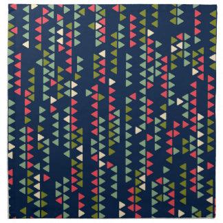 Triangular pattern napkin
