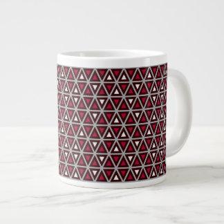 Triangular Shapes Pattern Jumbo Mug