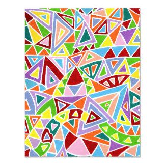 Triangulation 11 Cm X 14 Cm Invitation Card