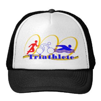 Triathlete - Run Bike Swim Mesh Hats