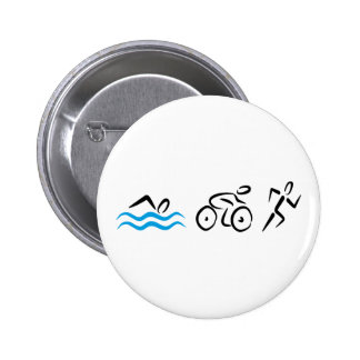 triathlon 6 cm round badge