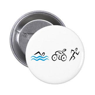 triathlon 6 cm round badge