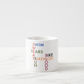 Triathlon blood sweat and tears espresso cup