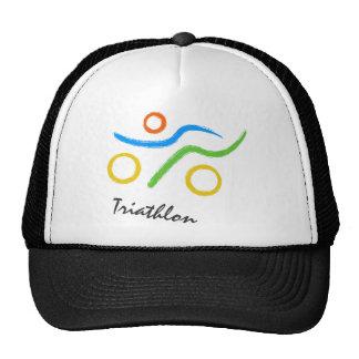 Triathlon cool and unique design mesh hats