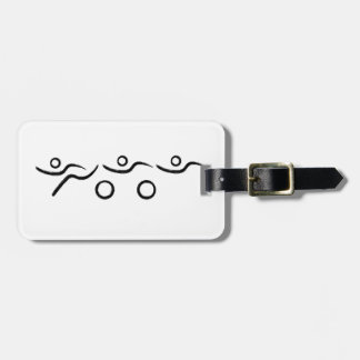 Triathlon cool and unique design luggage tag