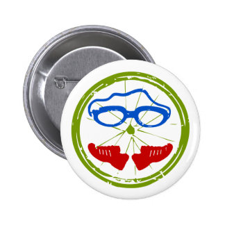 Triathlon cool artistic design 6 cm round badge