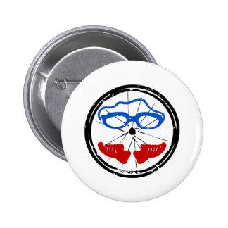 Triathlon cool artistic logo 6 cm round badge