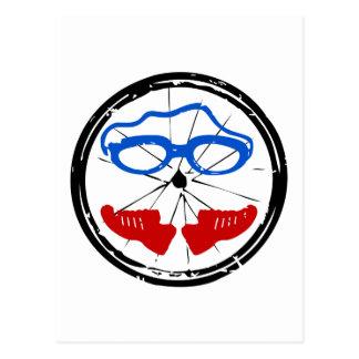 Triathlon cool artistic logo postcard