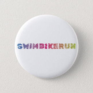 Triathlon cool design 6 cm round badge