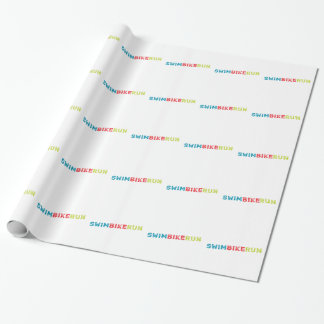 Triathlon Cool Design Wrapping Paper