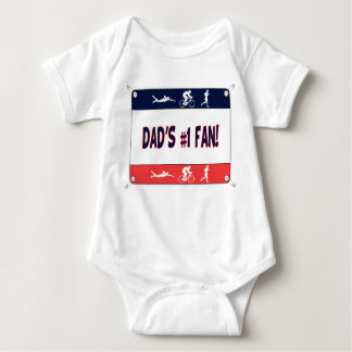 Triathlon Dad's #1 Fan Baby Bodysuit