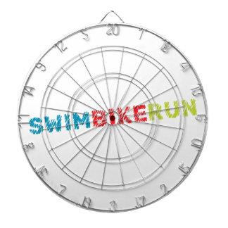 Triathlon design dartboard