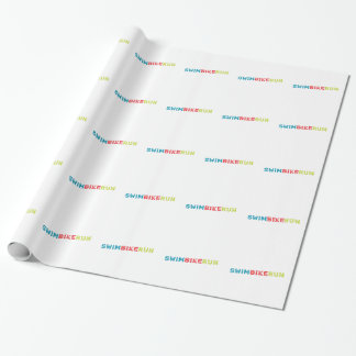 Triathlon design wrapping paper