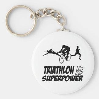 Triathlon designs key ring