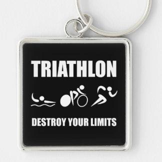 Triathlon Destroy Key Ring