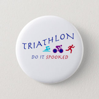 Triathlon, Do it Spooked 6 Cm Round Badge