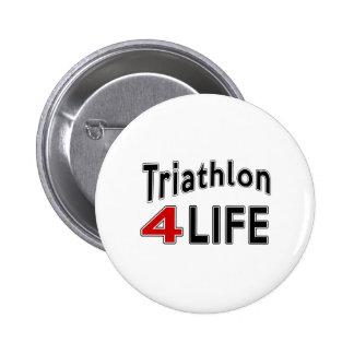 Triathlon For Life 6 Cm Round Badge