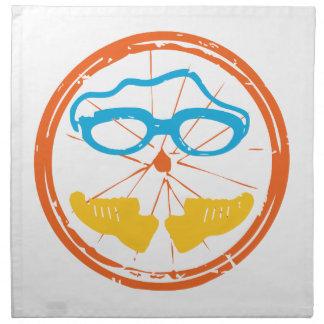 Triathlon fun design napkin