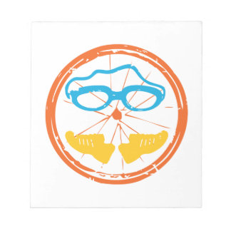 Triathlon fun design notepad