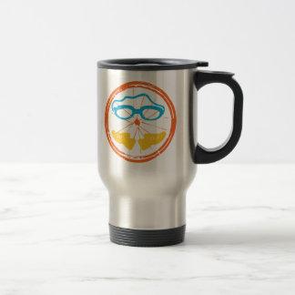 Triathlon fun design travel mug