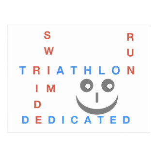 Triathlon I'm Dedicated Postcard