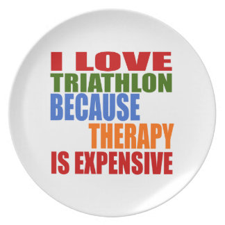 Triathlon Is My Therapy Plate