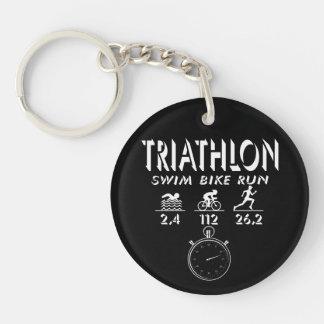 Triathlon Key Ring