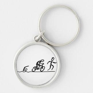 Triathlon key supporter key ring