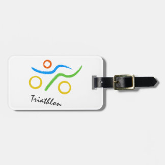 Triathlon logo bag tag