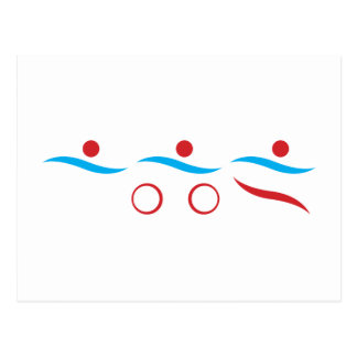 Triathlon modern cool logo postcard
