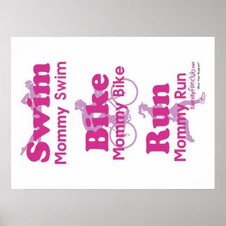 Triathlon Mommy Posters