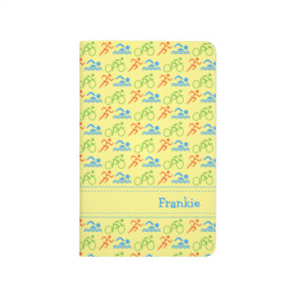 Triathlon pattern name initials sports journal