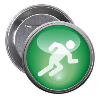 Triathlon RUN Race Day Button