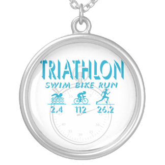Triathlon Silver Plated Necklace
