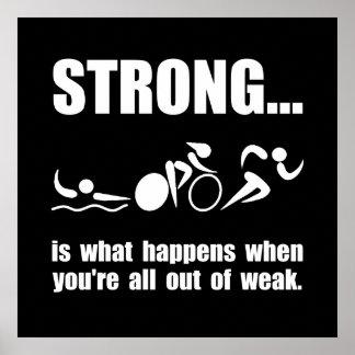 Triathlon Strong Poster