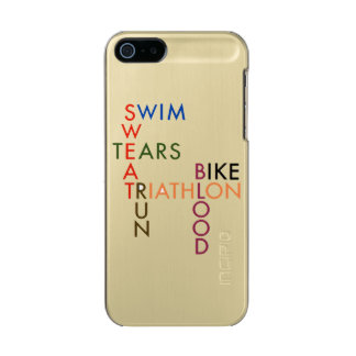 Triathlon Swim Bike Run Blood Sweat Tears Incipio Feather® Shine iPhone 5 Case