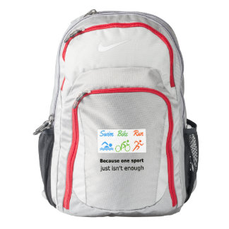 Triathlon swim bike run quote sports backpack